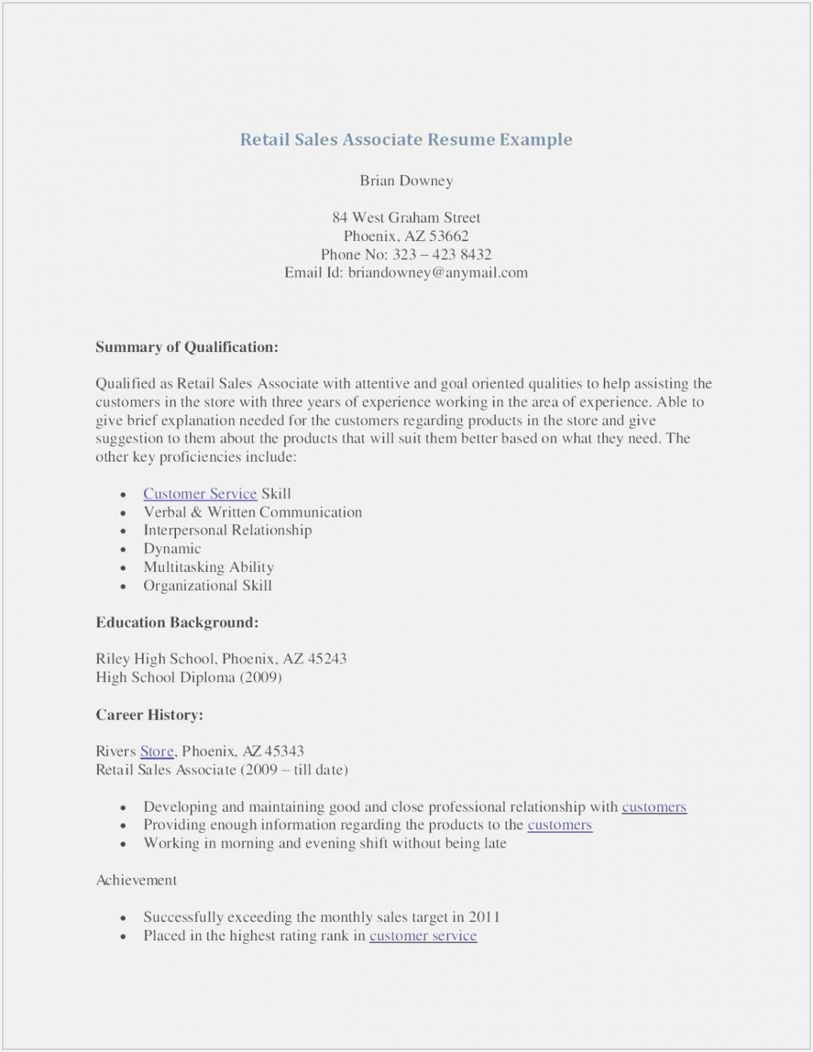 Sales associate Objective for Resume Zhsww Awesome Sales associate Resume Examples Lovely Sample Resume Retail Sales Of 7 Sales associate Objective for Resume