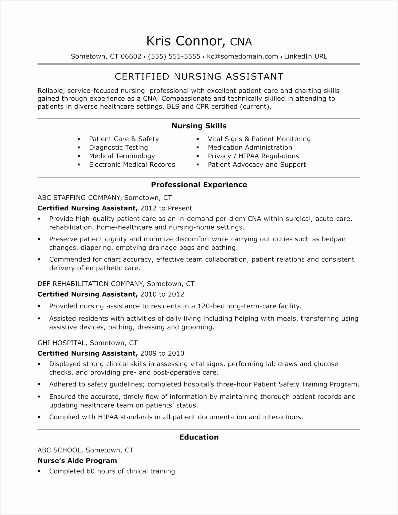 Nurse Assistant Resume Inspirational Bsw Resume 0d Sample Resume Sample Resume For Business 206815984bvma