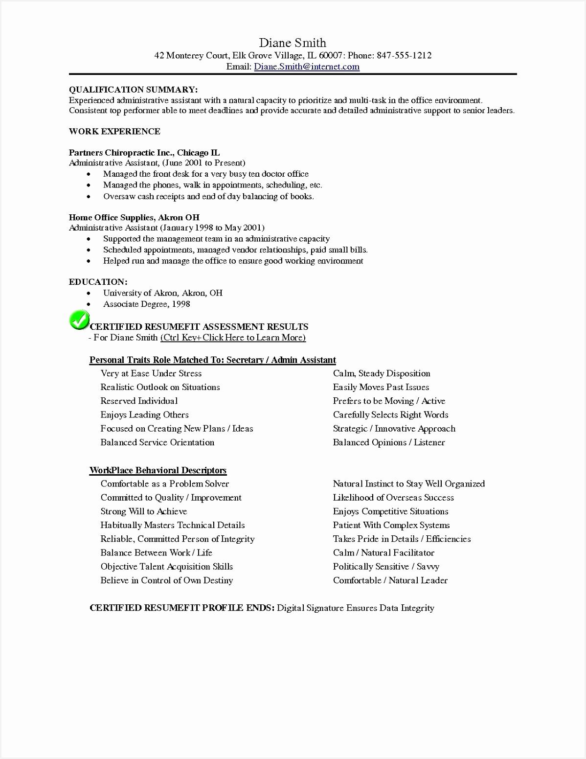 Sample Resume Of Secretary Gkkdj Elegant Teaching assistant Resume Samples Resume Examples for Teacher Of 6 Sample Resume Of Secretary