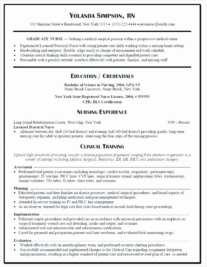 Standard Resume Example Qea5k Unique Resume Sample for Staff Nurse Popular Rn Resume Sample Unique Of 5 Standard Resume Example