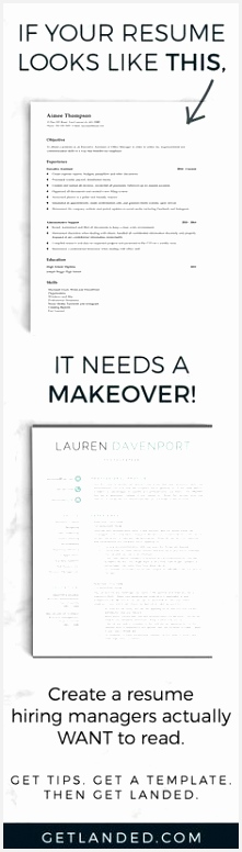Get a resume makeover today with a resume template and resume writing tips that will transform your resume into something hiring managers actual School 776221juvTm
