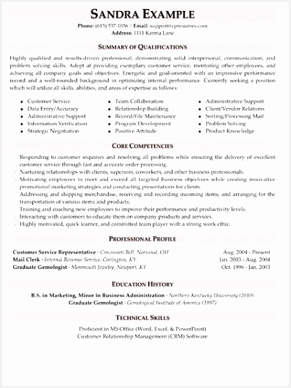 Customer Service Skills Resume Sample T2huw Lovely 5 Star Resume Examples English564423