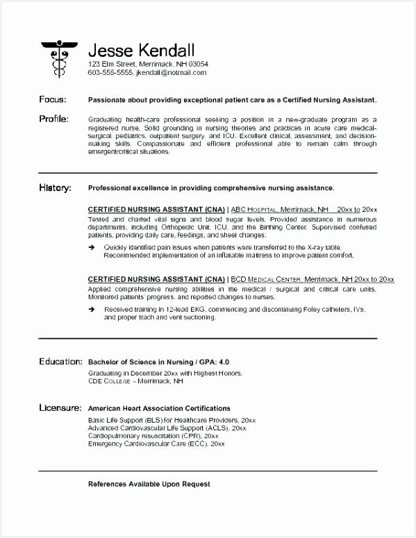 Patient Care assistant Resume Best Cna Resume Skills Lovely Bsw Resume 0d Sample Resume Resume Cna 7755992bcje