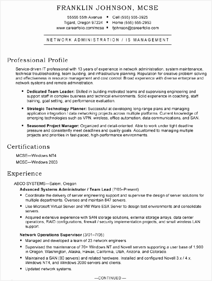 Systems Administrator Resume Resume Experience Example What is A Resume New Bsw Resume 0d Sample 951718agqyz