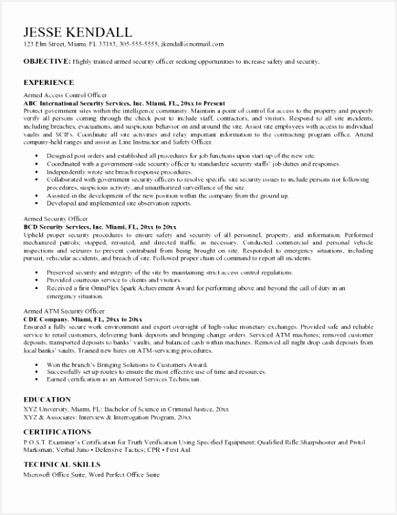Banking Executive Resume Templates Awesome Security Guard Cover Letter Awesome Samples A Good Resume With Od 752580zgbay