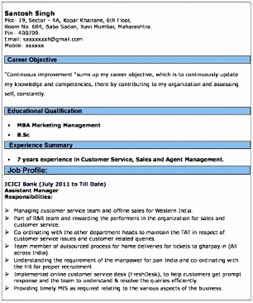 Bank Job Resumes Resume Format For Banking Sector Freshers Best And 11679768vqzi