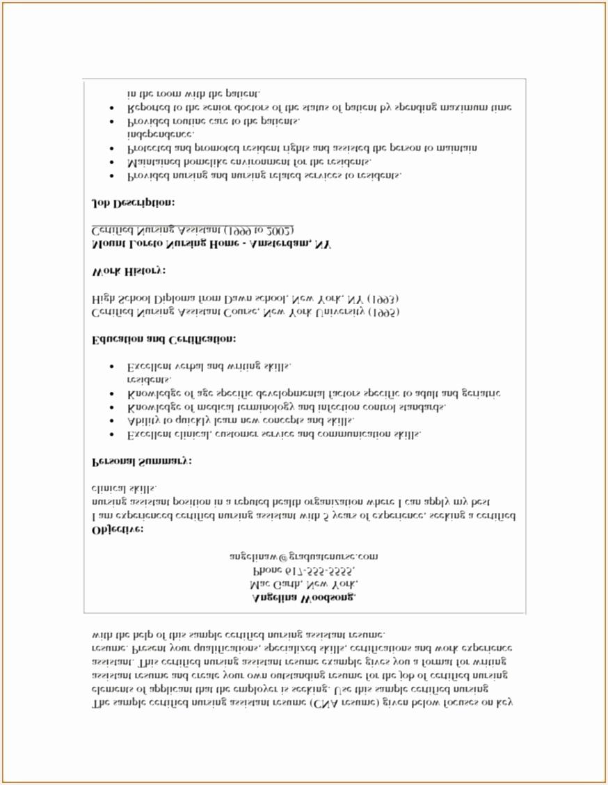 Cna Resume Examples 23 Certified Nursing Assistant Resume Templates Cna Resume 20 Certified Nursing Assistant 11288747vpkb