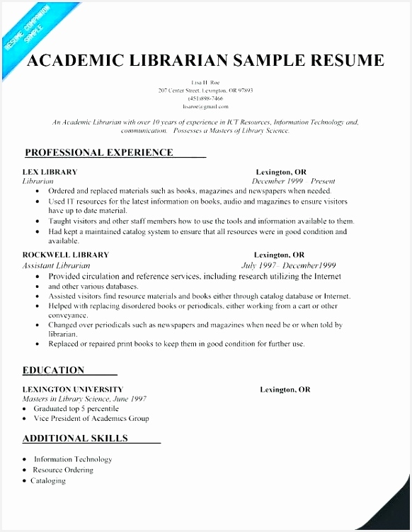 librarian resume template library 752582zxbhd