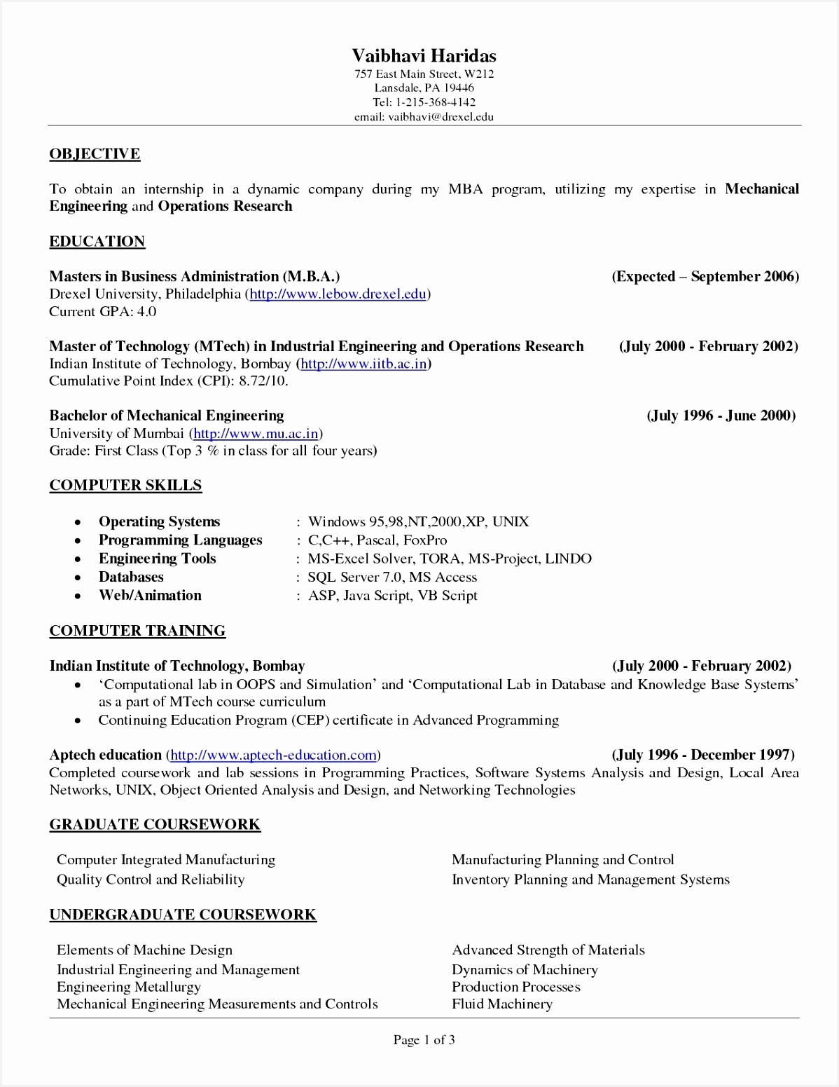 College Resume Sample Unique Resume Objective Examples for Any Job Unique Best Sample College 155111981yBmq