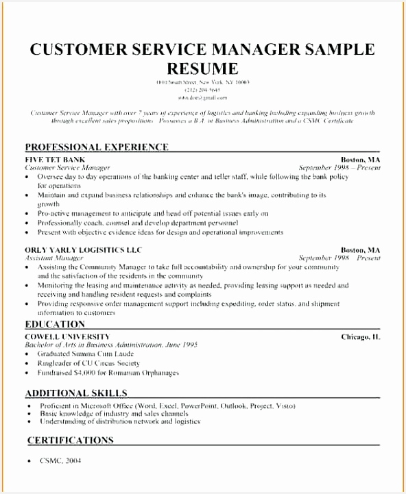 Commercial Operations Manager Sample Resume Ocfoj Awesome 67 Luxury S Resume Examples Mercial Banking Of 5 Commercial Operations Manager Sample Resume