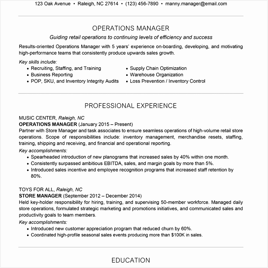Commercial Operations Manager Sample Resume W8a3h Awesome Category Resume 155 Of 5 Commercial Operations Manager Sample Resume