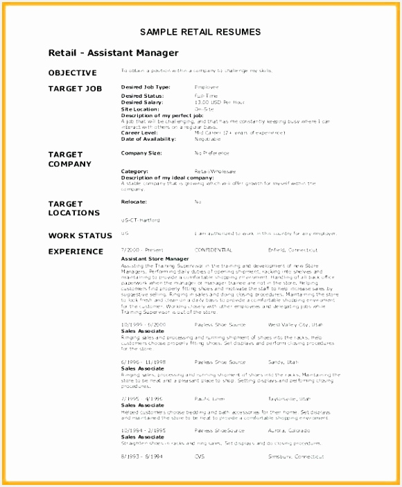 Resume Examples for Retail with No Work Experience Inspiring Collection Job Skills for Resume Skills Resume 7035800nrxy