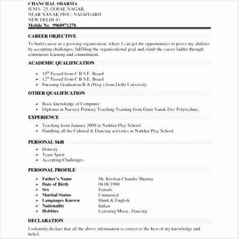 Correct format A Resume Sample Step by Step Resume New Resume Examples Basic Nice Pastor 470470thbjy