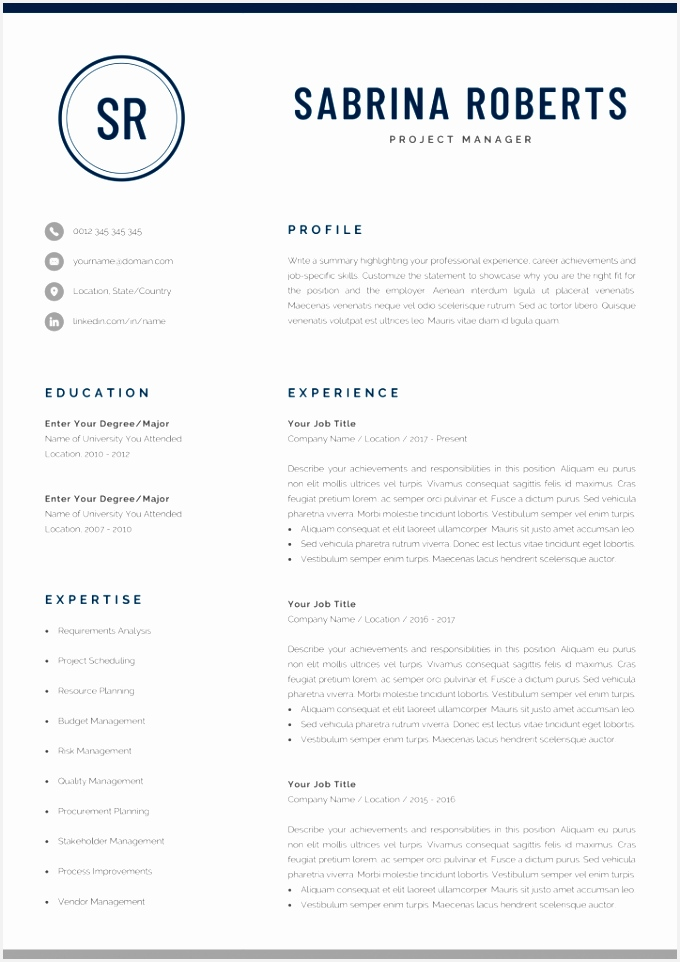 Esa Letter Template Gallery Unique Executive Resume Cv Word Doc 962680tfDse
