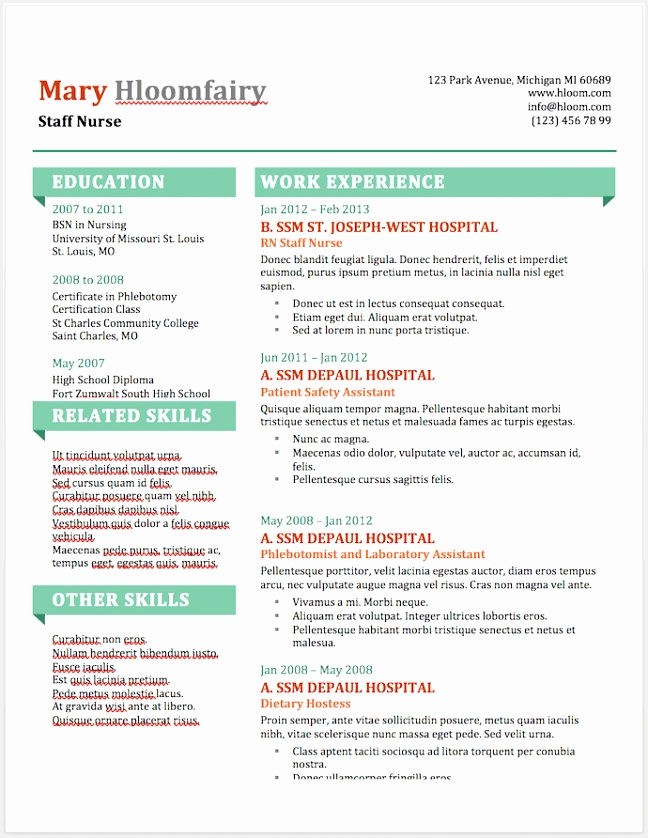 Info Pop resume template for MS Word 838648hubff