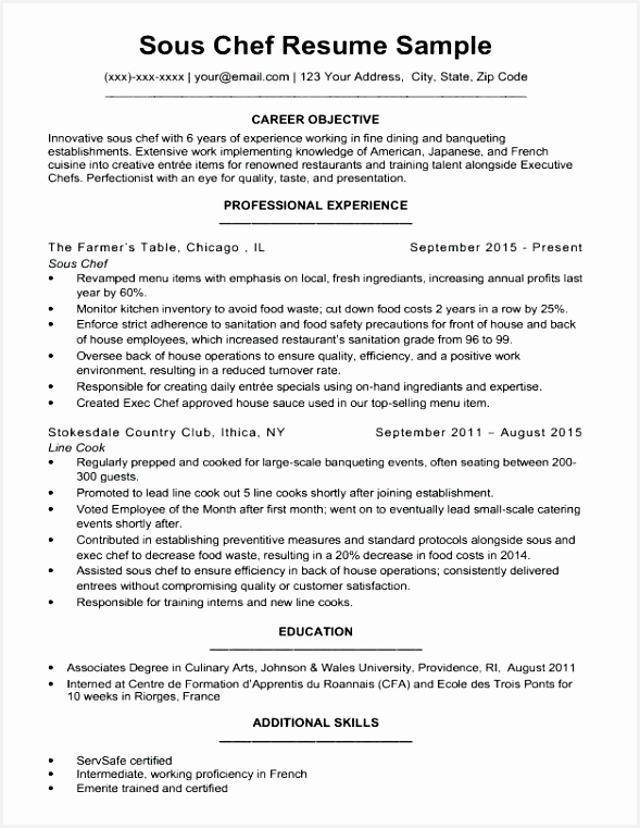 sample cook resume template chef resumes samples pastry examples for executive 761589adjYc