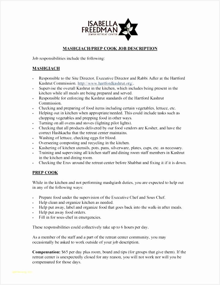 Cv Templates Chef Feprc Beautiful Server Job Descriptions for Resumes – Jamesnewbybaritone Of 7 Cv Templates Chef