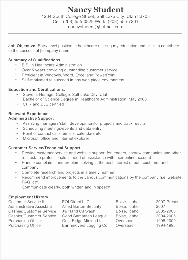 Work Experience Resume Examples Free Resume Objective Samples Lovely Resume Examples 0d Good Looking 1064770ddIj