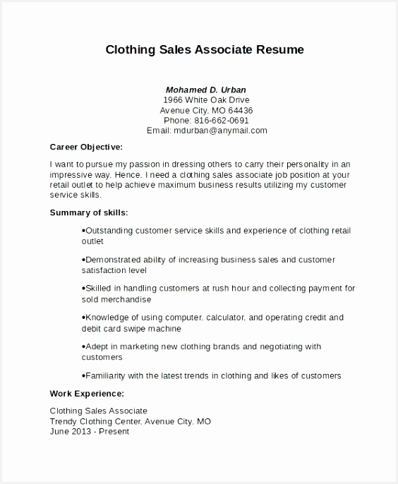 Example Of Sales associate Resume P7bfo Luxury Sales associate Job Description Resume Unique Free Objective Resume Of 7 Example Of Sales associate Resume