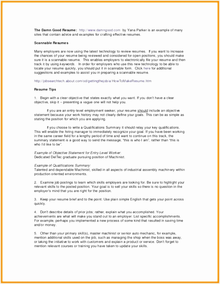 Entry Level Resume Objective Examples Elegant Statement Human Resources Templates 9627473luhs