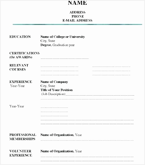 pany Resume Template Sample formats Resume Blank Resume Template Pdf Best Resume Examples 0d 561493zcjaw