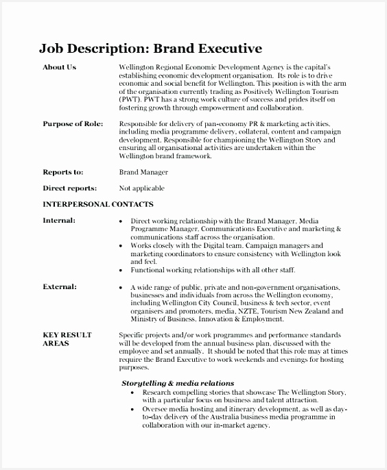 Fashion Brand Manager Sample Resume Qjfak Inspirational Creative Director Job Description Template Brand Description686564