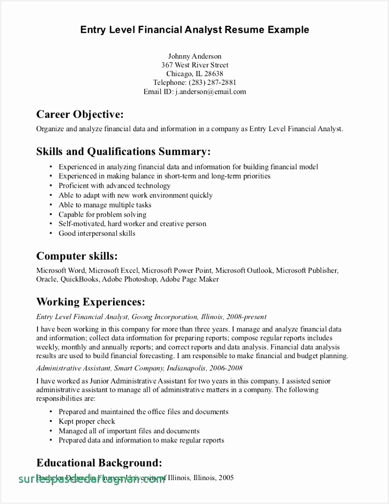 Finance Resume Examples Finance Resume Ceo Resume Examples New Finance Resume 0d 10337985shln