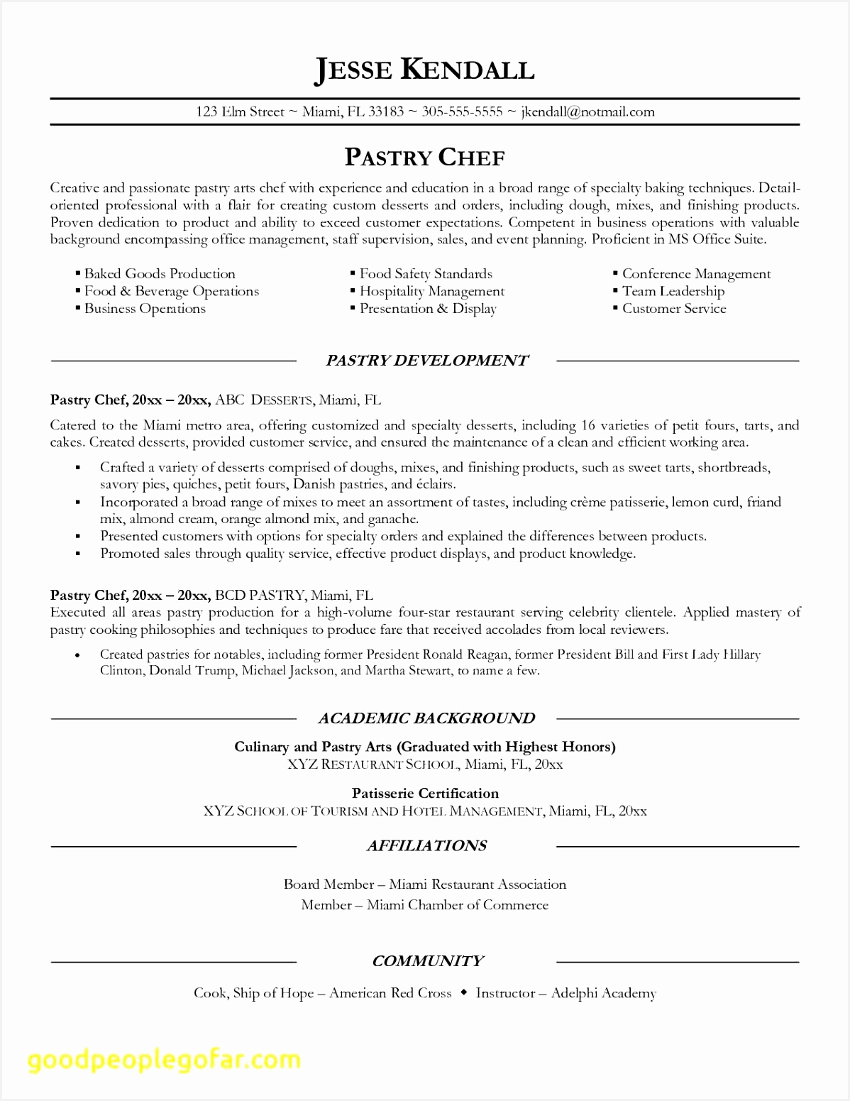 Food Safety Manager Sample Resume A3vyl Unique Chef Resume Objective Examples Pastry Chef Resume Awesome Resume for15511198