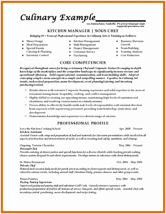 Food Safety Manager Sample Resume Dgyed Best Of Resume for Kitchen Staff Sample – Salumguilher688535