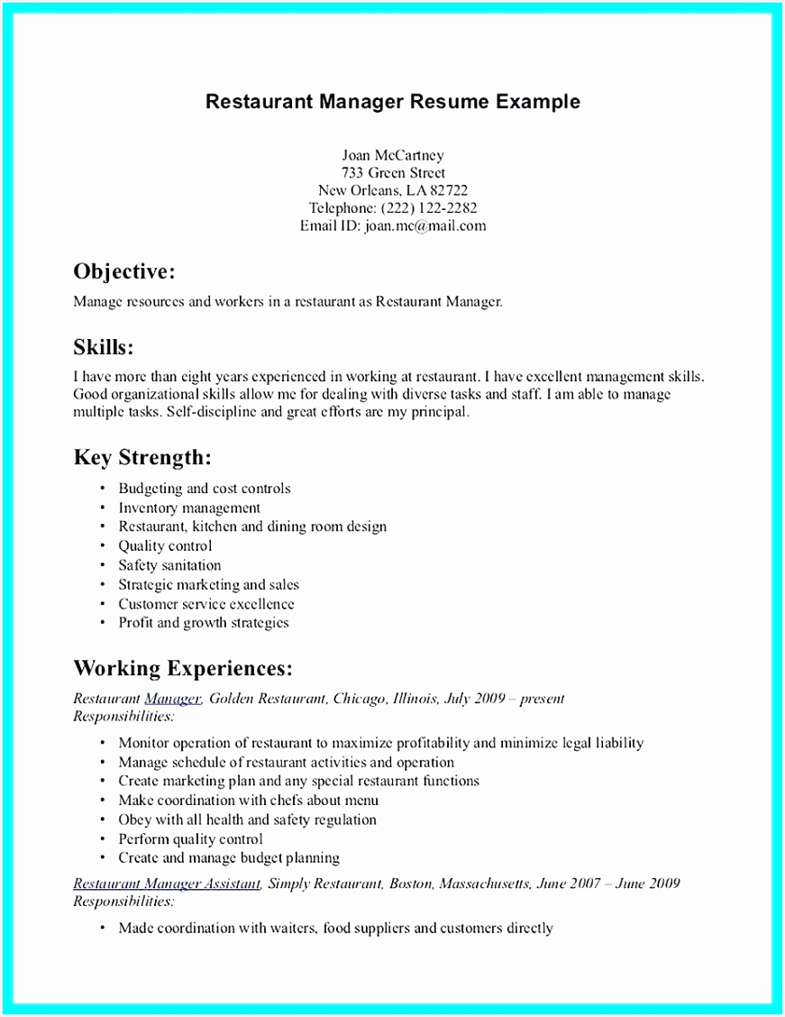 Food Safety Manager Sample Resume Lfhxa Unique 40 Good Skills for Resume Of Food Safety Manager Sample Resume A3vyl Unique Chef Resume Objective Examples Pastry Chef Resume Awesome Resume for