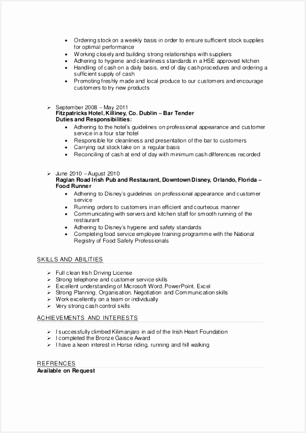 Food Safety Manager Sample Resume Yvawg Unique Fresh Food Science Resume848599