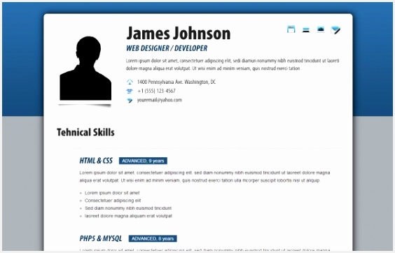 HTML Resume Templates To Help You Land A Job 3625648Ykly