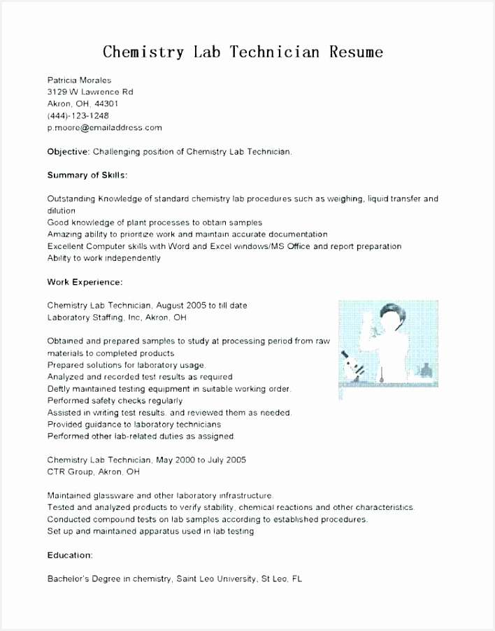 Lab Technician Resume Sample Summary Qualifications Resume Sample Best Resume Examples 0d Concept 902708duhks