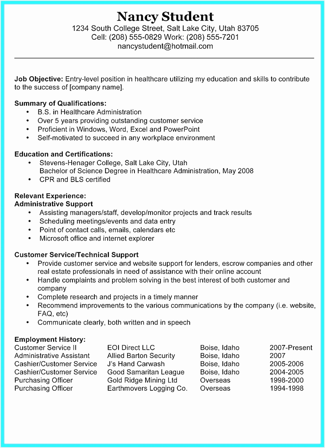 Sample Job History Letter New Resumes For Jobs Awesome Luxury Examples Resumes Ecologist Resume 0d 15571128hoceb