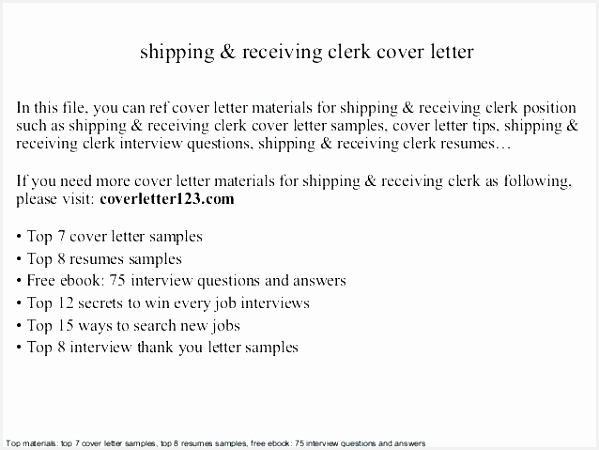 Shipping And Receiving Clerk Job Description For Resume Elegant Shipping And Receiving Resume Sample Shipping And 450599jyYla