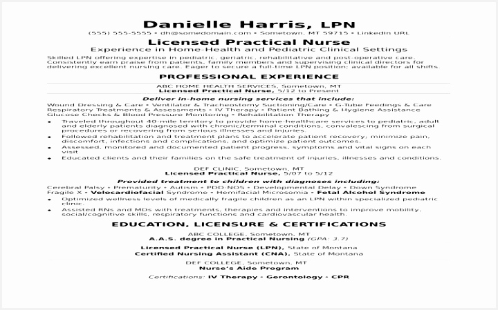 Licensed Practical Nurse Sample Resume New Lpn Resume Sample Best Cna Resume Sample Luxury Bsw Resume 449720htvud
