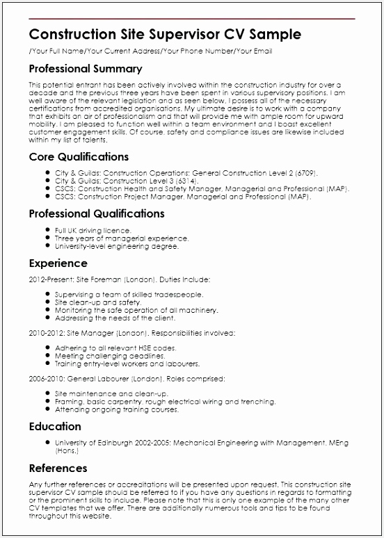 Mining Safety Manager Sample Resume Cgaxp Luxury Construction Superintendent Resume Examples and Samples Mechanical774552