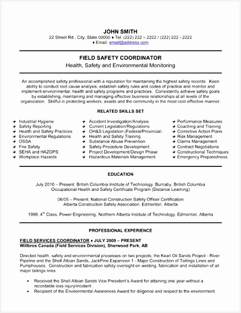 Mining Safety Manager Sample Resume Eayvs Best Of Pin by Bruna Babler On Job Stuff638493