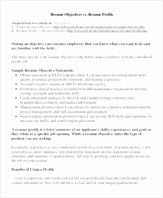 Objectives Resume Examples W7dfh Lovely 68 Beautiful Pics Summary Resume Example686564