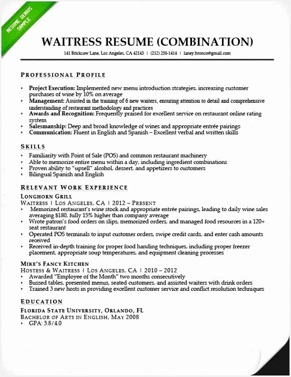 Resume for Restaurant Waitress Xkelc Elegant Waitress Responsibilities Resume Segmenuldings Of 8 Resume for Restaurant Waitress