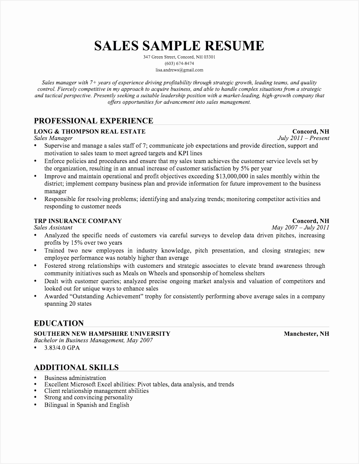 Sample Resume Sales and Marketing Manager Valid American Resume Sample New Student Resume 0d Wallpapers 155111981gYen
