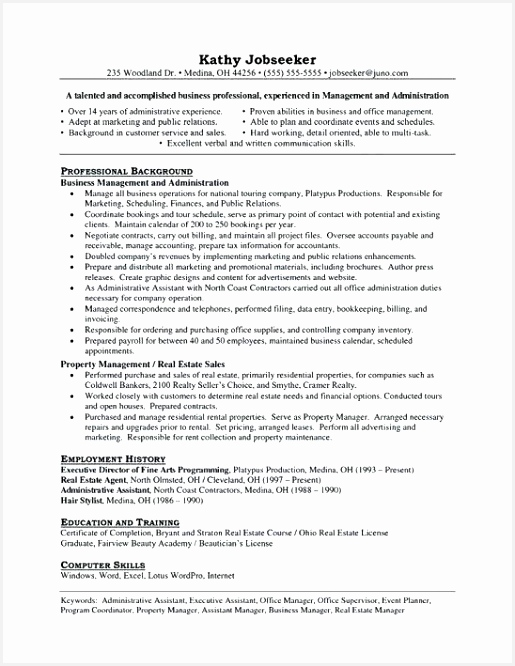 Resume Samples for Executive assistant Gehdt Beautiful Admin Resume Sample Best Property Manager Resume Sample Beautiful Of 6 Resume Samples for Executive assistant