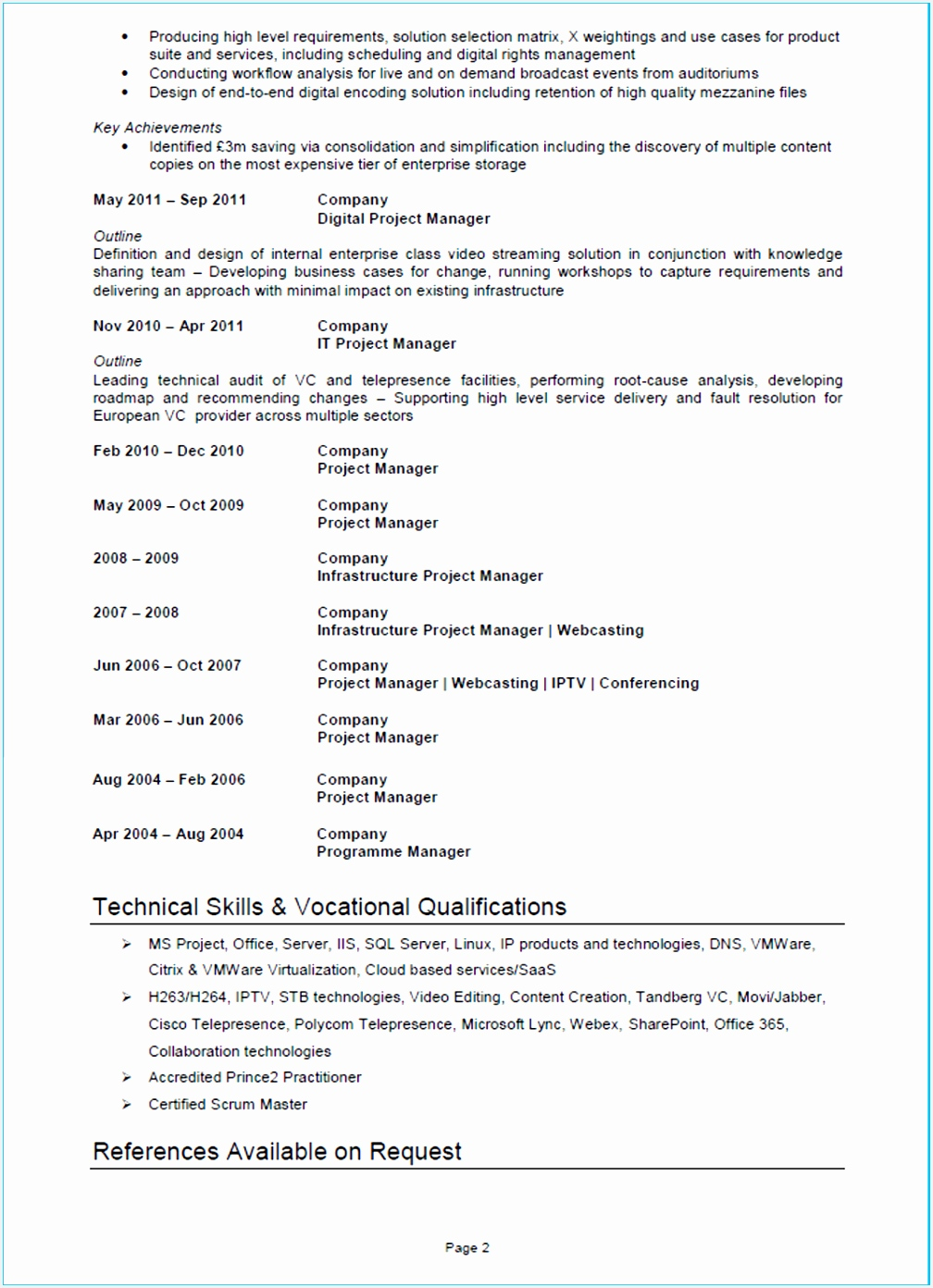 Sample Marketing Project Manager Resume Tuxqq New Project Manager Cv Example Cv Template and Writing Guide Of 7 Sample Marketing Project Manager Resume