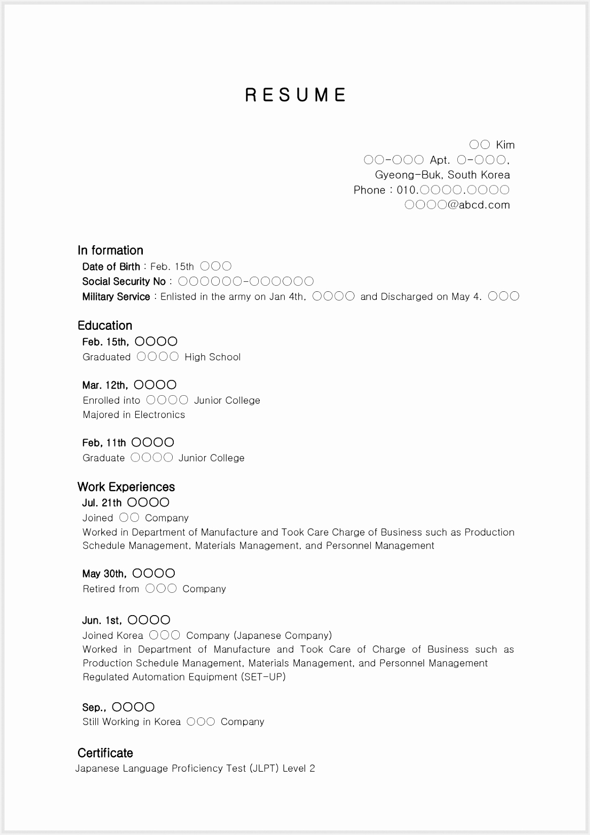 Sample Resume For High School Student With No 16481165jtdka