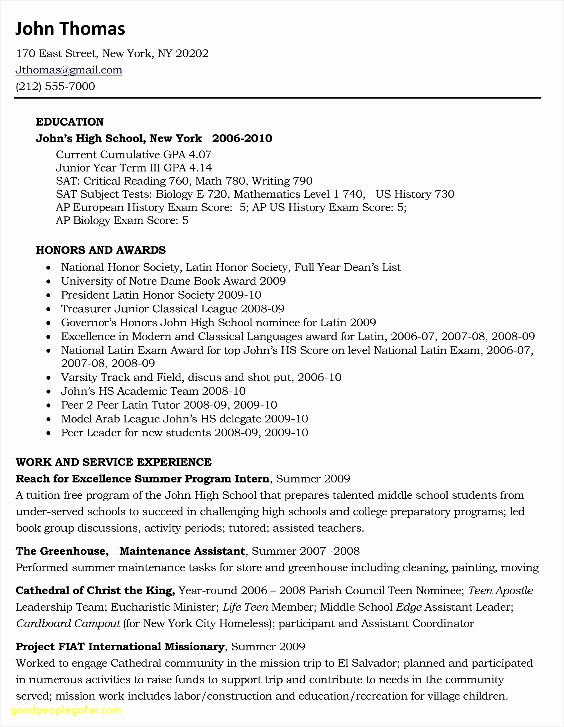 7 sample resume gpa etoquj