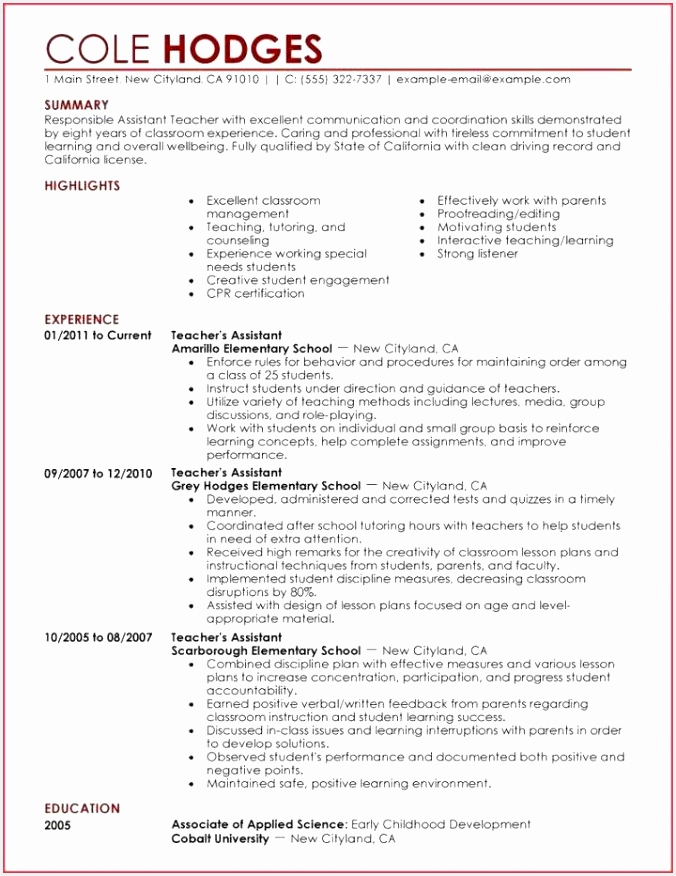 Resume Teacher assistant Awesome Resume Creator for Students From Livecareer Resume 0d Wallpapers 43 876676wxfUt