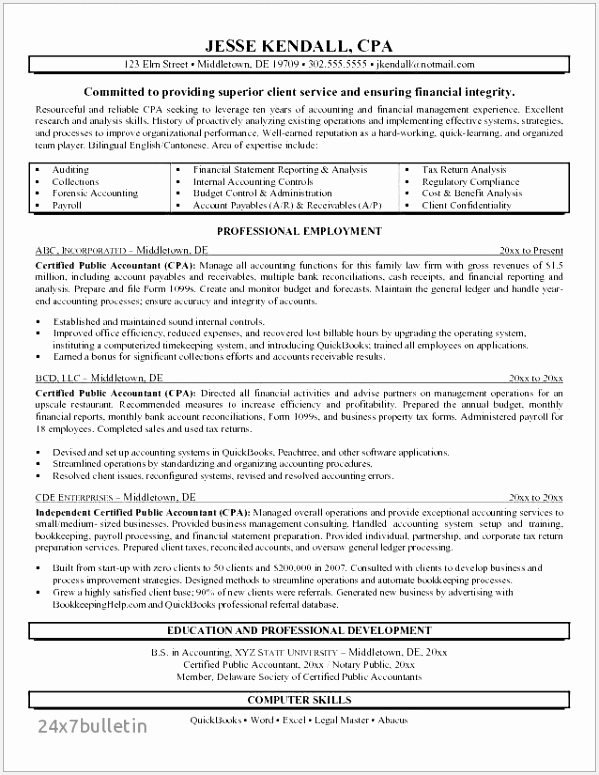 Tax Accountant Resume New Public Accountant Resume Examples Best 14 Beautiful Senior Tax Accountant Resume 7755995fejv