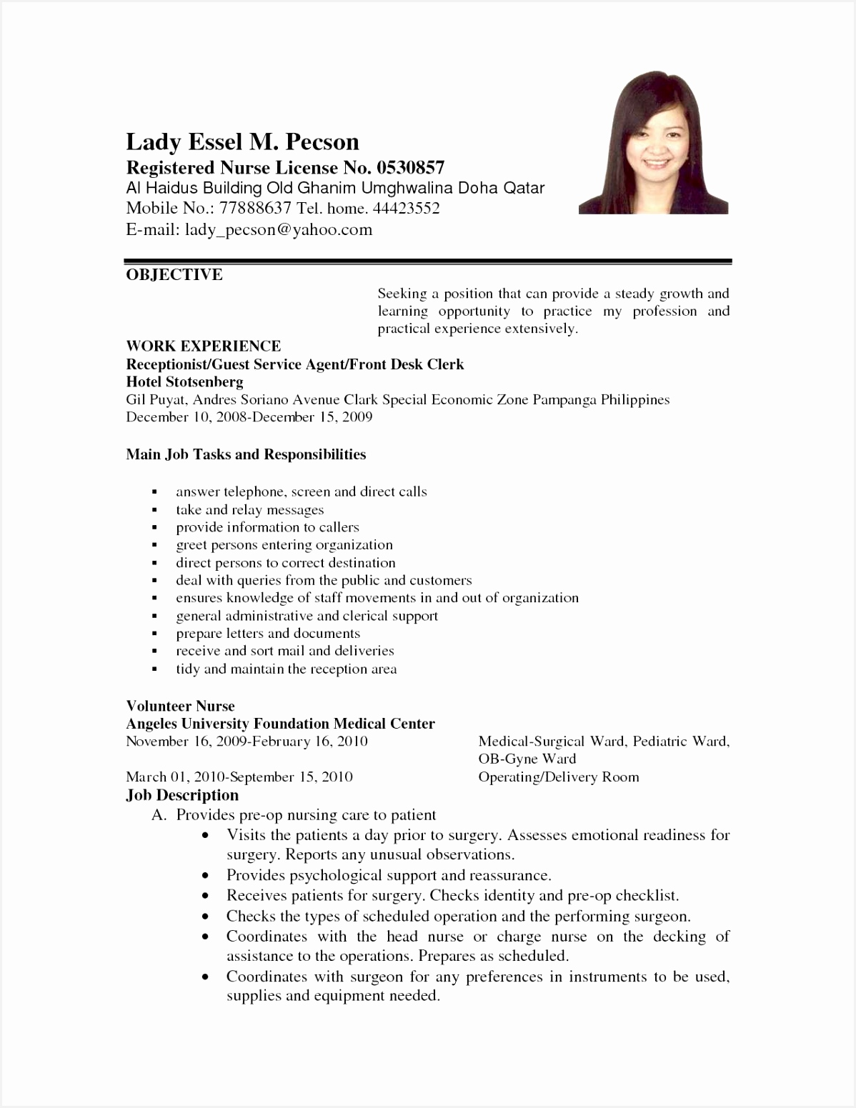Teen Resume Example Ggxlf Unique 201 Hospitality Resume Examples Free15511198