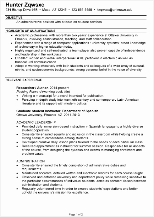 Student Resume Template format Cv Resume Template From American Resume Sample New Student Resume 0d New 692490skdee
