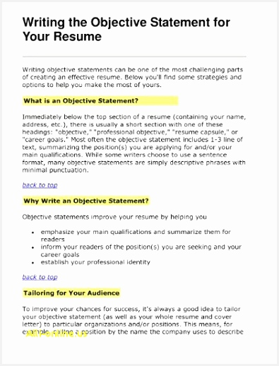 Career Objective Resume How Write A Resume for A Job Good Advantage Resume 0d Objectives 518395bIykc